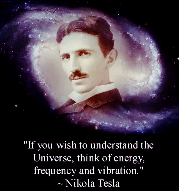 Think of energy frequency and vibration